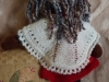 the back view of Maggie's shawl.  Maggie was knitted from Nancy Anderson's pattern