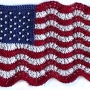 Mini Lace and Beaded Flag e-Pattern