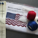 Mini Lace and Beaded Flag Kit (includes pattern and optional knitting needles)