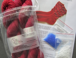 Supplies Pak for Patriotic Bead Striped Socks (does not include pattern)