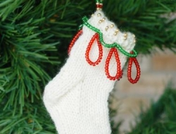 Bells On My Toes Holiday Beaded Mini Sock e-Pattern