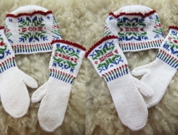 No Two Alike Snowflakes Mittens & Hat e-Pattern