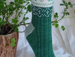 Beaded Shamrocks Socks Kit (includes pattern)