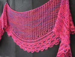 Loganberry Cable Lace Crescent Shawl e-Pattern
