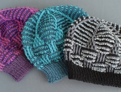 Beaded Basket Weave Mosaic Hat