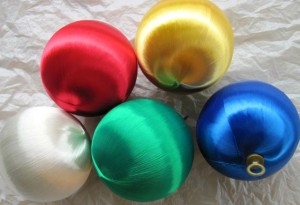 Satin Ornament Balls