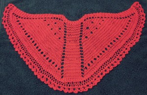 Doll-sized Faroese Shawl