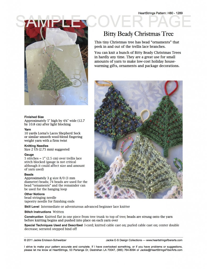 Bitty Beady Christmas Tree pattern cover page
