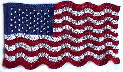 Mini Lace and Beaded Flag