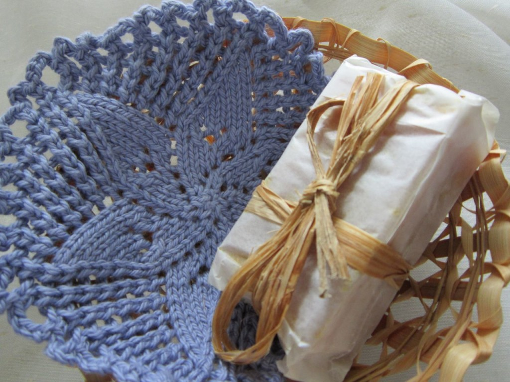 Boudoir Gift Basket with Pinwheel Flower Facecloth
