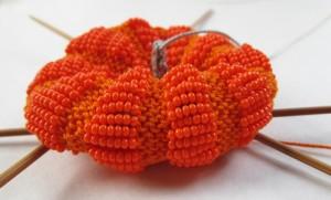 Beaded Pumpkin in progress