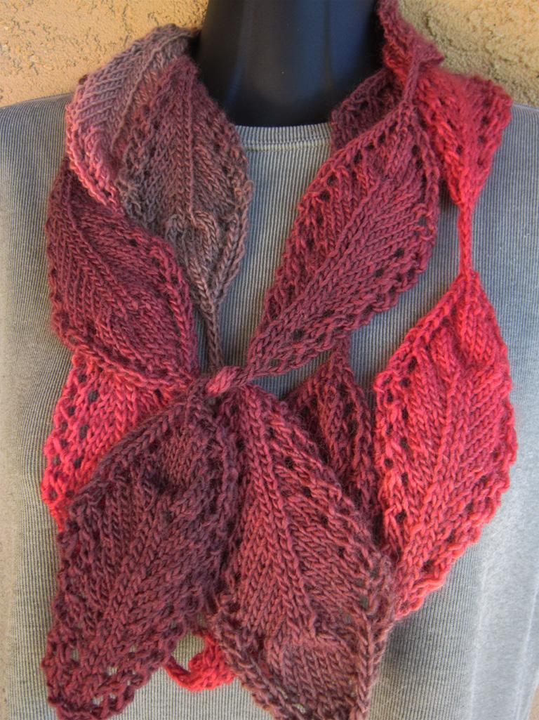 Knitting Pattern Oak Leaf : Fall Favorites e-Patterns Knit HeartStrings Learn-and-Knit-Alongs