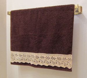 Lace Embellished Towel