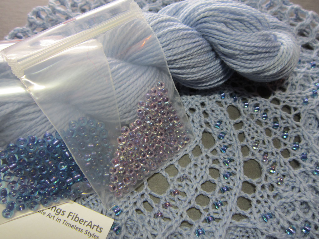 H03 Kit to make a beaded Lace Doily Beret
