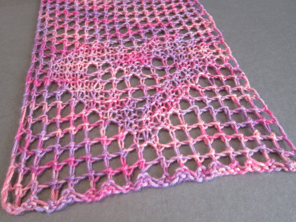the other side of filet lace knitting