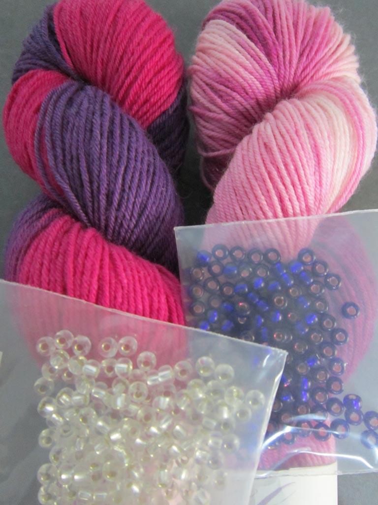 2014 February Giveaway of yarn and beads
