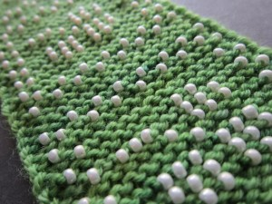beaded garter stitch