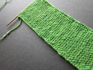 beaded garter stitch from the wrong side