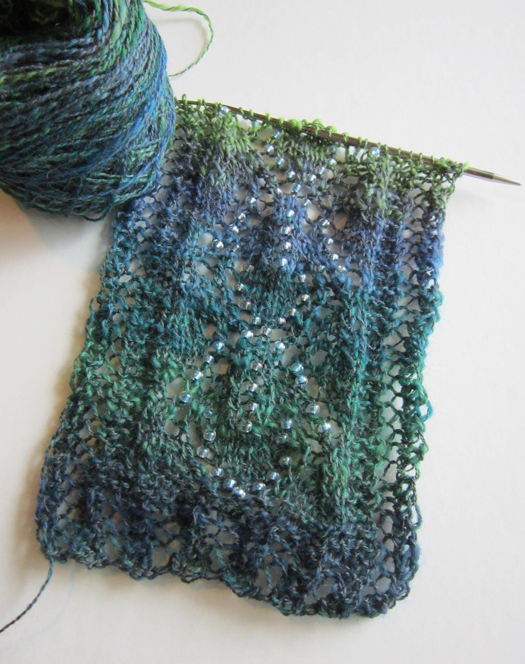 Bonus an option to beading the lace leaf pattern stitch knit bonus an option to beading the lace leaf pattern stitch bankloansurffo Gallery