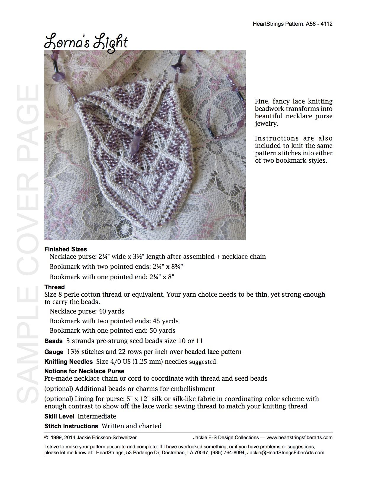 Bits of beads e patterns knit heartstrings learn and knit alongs precious treasures e pattern aka lornas light bankloansurffo Gallery
