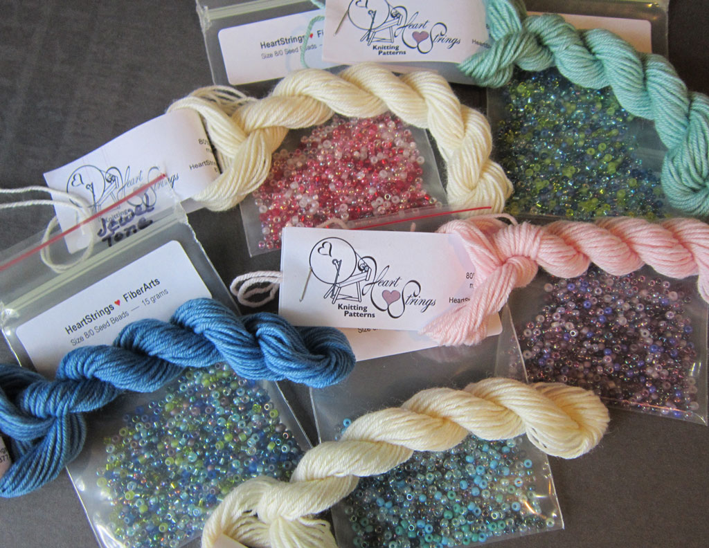 yarn and bead color combos for making Fab Bead Egg
