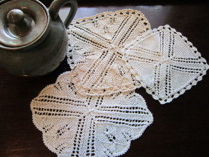 Tea Time napkin doily coaster