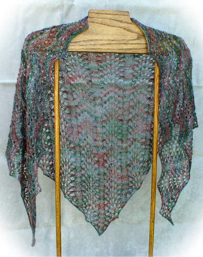 Easy Triangle Shawl Knitting Pattern : BEYOND BOBBOL 2014 and 2015 e-Patterns Knit HeartStrings ...