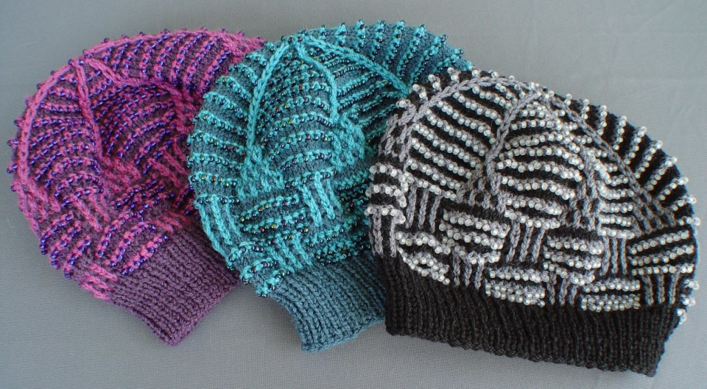 Beaded Basket Weave Mosaic Hats