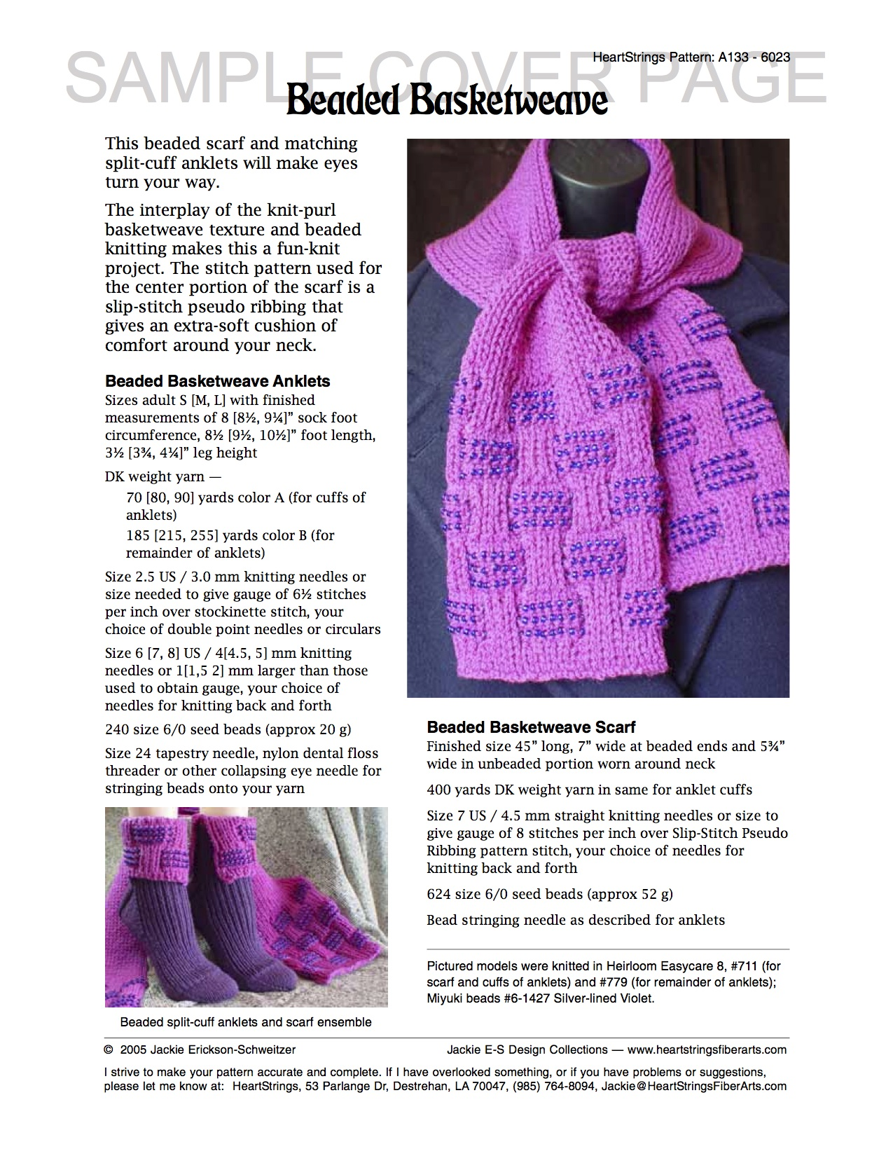 Bits of beads e patterns knit heartstrings learn and knit alongs beaded basketweave scarf and anklets ensemble e pattern bankloansurffo Gallery