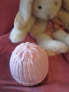 Flowered Crown Baby Hat
